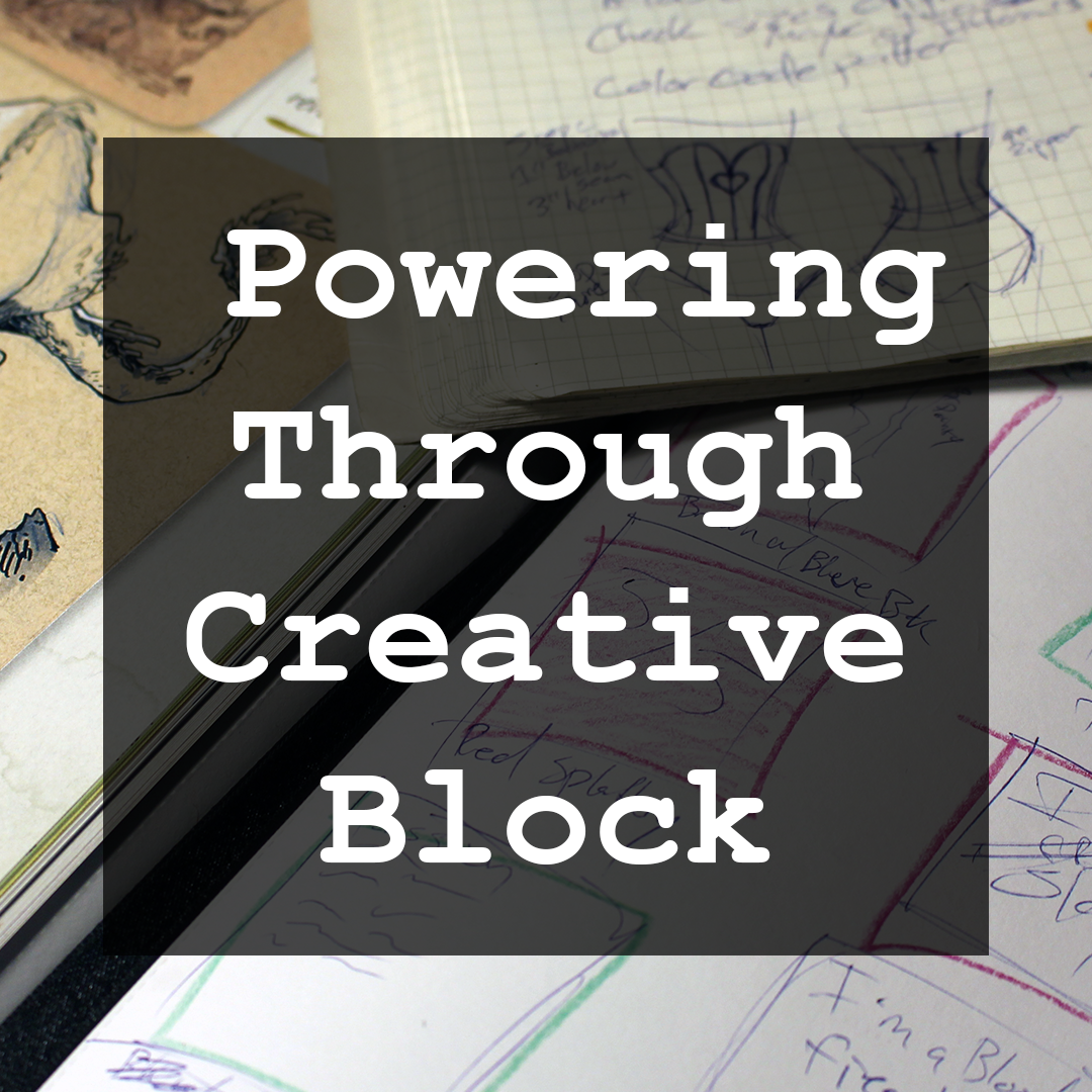 Powering Through Creative Block Cover Bitemefox